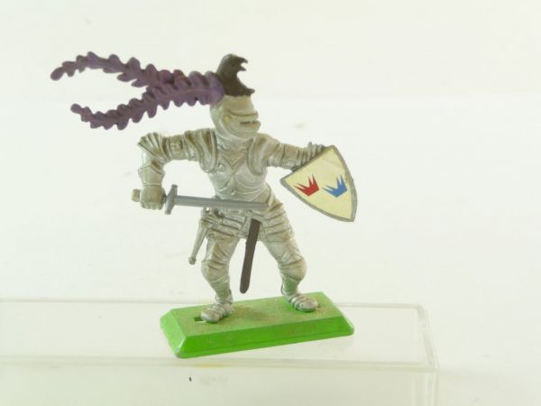 Britains Deetail Knight standing with shield, pulling sword