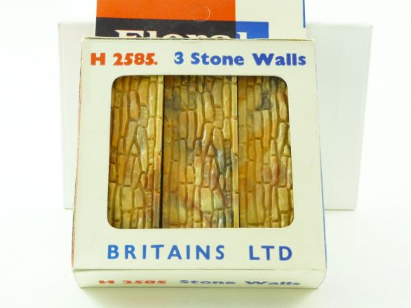 "Britains Floral Miniature Garden ""3 Stone Walls"", No. 2585 - orig. packing"