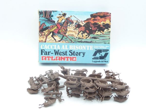 Atlantic 1:72 Far West Story, Caccia al Bisonte, No. 1101, 42 parts - figures on cast