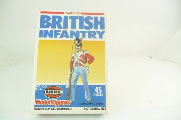 Airfix 1:72 Waterloo; British Infantry, No. 01745-9 - figures loose, complete