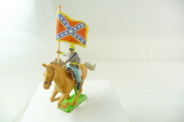 Britains Deetail Confederate Army soldier riding with flag