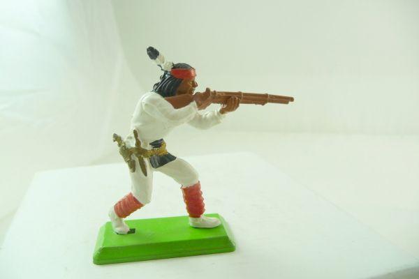 Britains Deetail Apache standing firing, white/red
