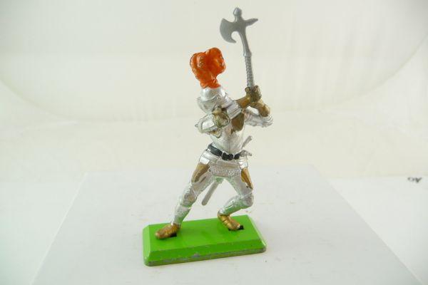 Britains Deetail Knight standing, holding battleaxe ambidextrous