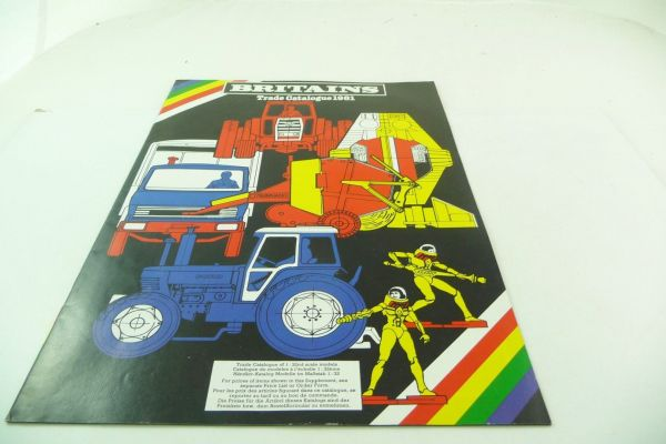 Britains Big retailer catalogue 1981, 23-page colourful illustrated catalogue