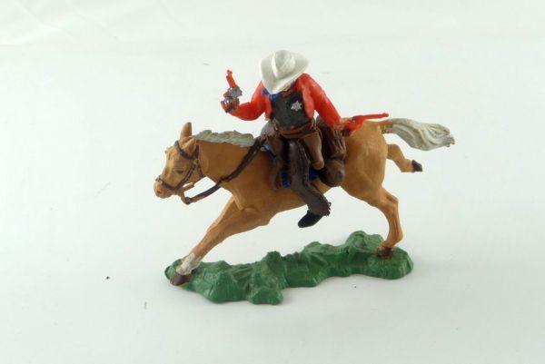 Britains Cowboy 1. Version, Sheriff mit 2 Pistolen reitend