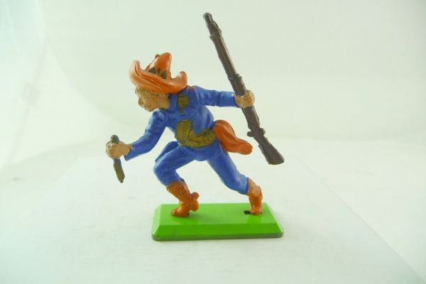 Britains Deetail Mexican going ahead with knife + rifle, blue/orange