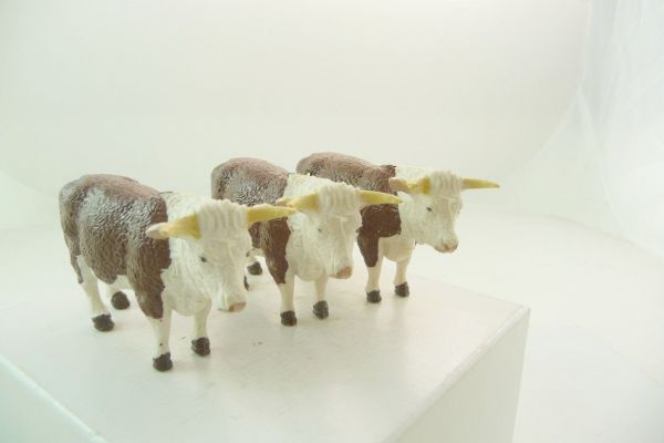 Britains 3 cows, brown/white