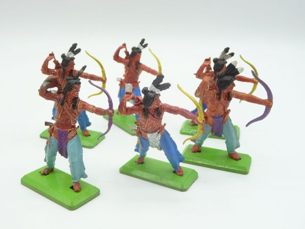 Britains Deetail 6 Indians, archers - used