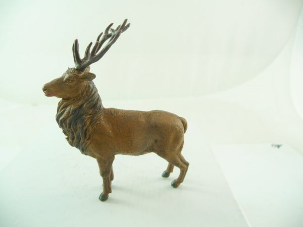 Britains Deer with pluggable antlers, medium-brown