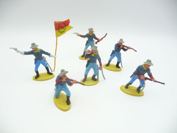 Britains Swoppets 7. cavalry figures (6 figures) - complete set, see photos