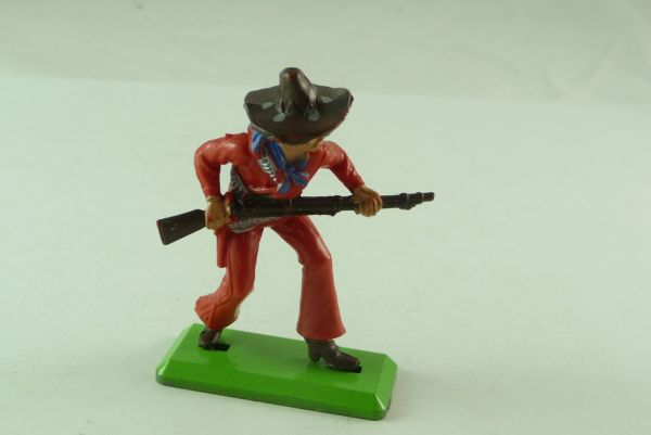 Britains Deetail Mexican going ahead with rifle, red with blue hat