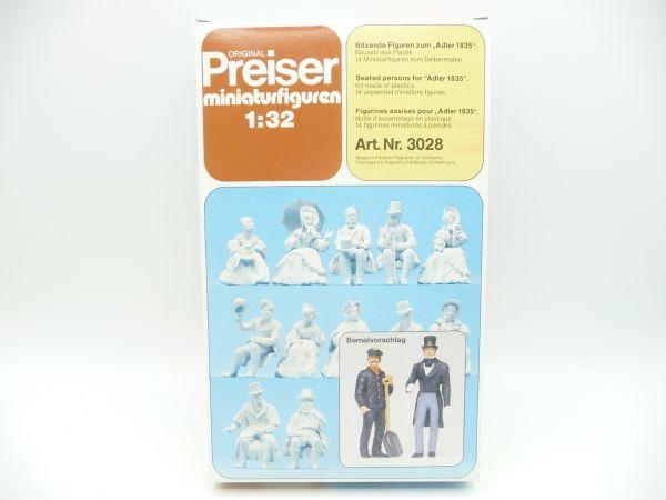 Preiser 1:32 Sitting figures of the eagle 1835 - orig. packaging, parts still in original bag