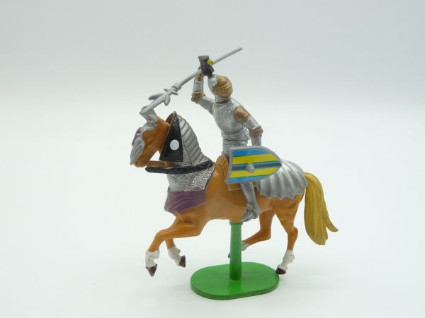 Britains Deetail Knight (movable) riding with lance + shield