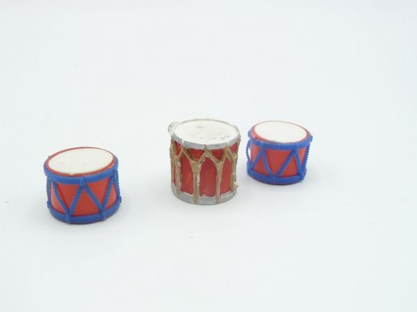 3 drums - suitable for 7 cm Elastolin figures