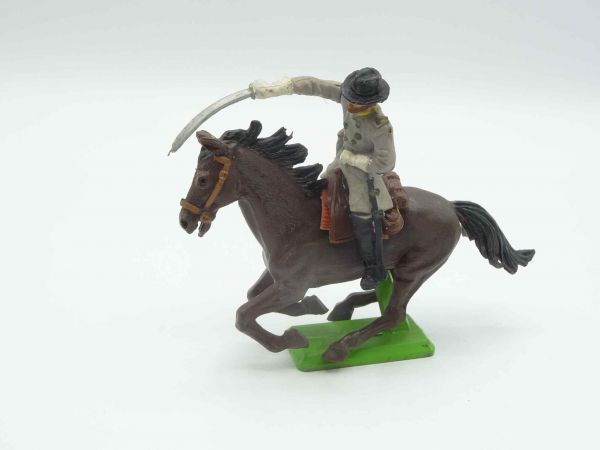 Britains Deetail Confederate Army officer riding, storming with sabre