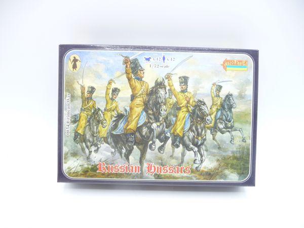Strelets*R 1:72 Crimean Russian Hussars, Nr. 0034 - OVP, Figuren am Guss