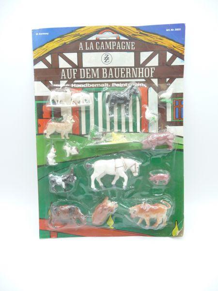 ZZ Toys Set Tiere auf dem Bauernhof, Art. Nr. 2621 - OPV (Blister)