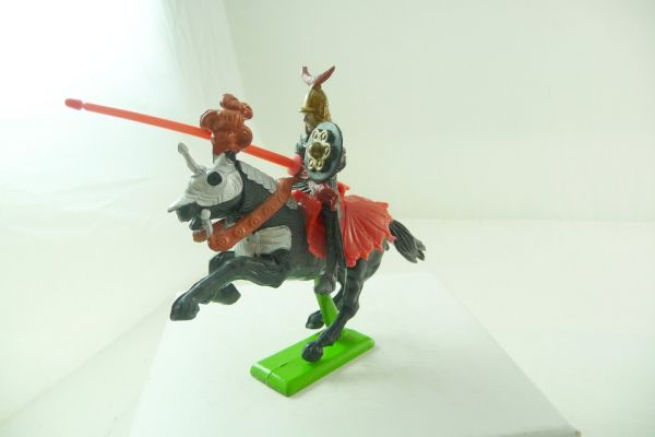 Britains Deetail Knight riding with lance, black